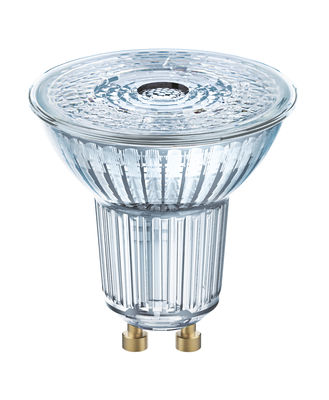 Spot LED GU10 dimmable / PAR16 36° - 5,5W=50W (2700K, blanc chaud) - Osram transparent en verre