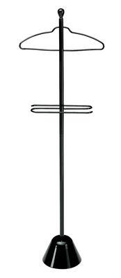 Möbel - Beistell-Möbel - Servonotte Stummer Diener - Zanotta - Schwarz - gefirnister Stahl
