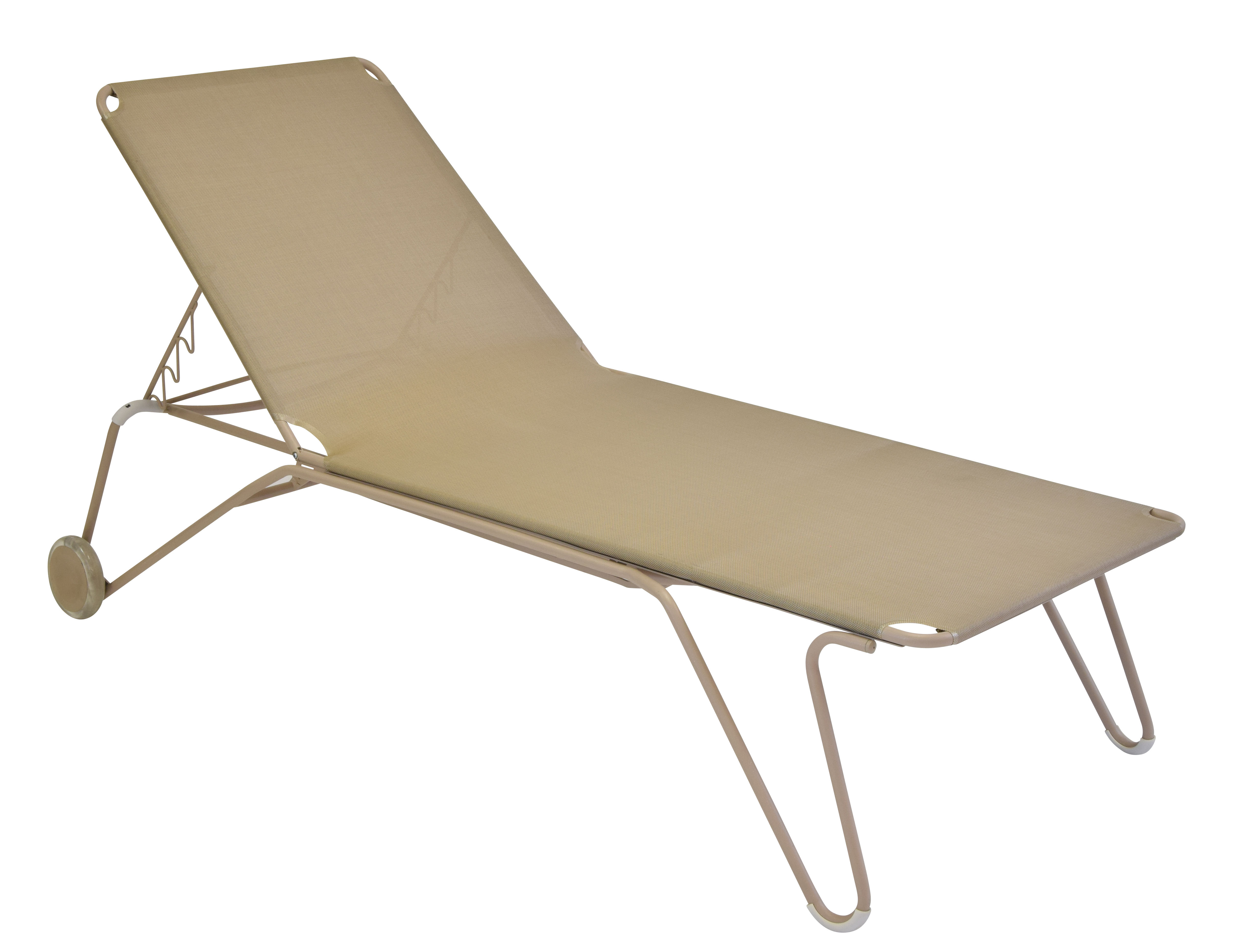 Outdoor - Sun Loungers & Hammocks - Harry Sun lounger - 4 positions by Fermob - Nutmeg - Cloth, Painted steel