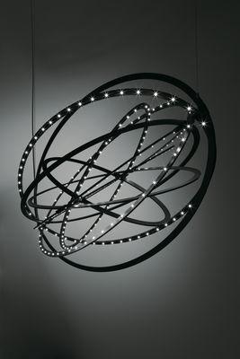 Luminaire - Suspensions - Suspension Copernico LED - Modulable - Ø 104 cm - Artemide - Noir - Aluminium peint