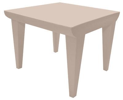 Table basse Bubble Club / 51 x 51 cm - Kartell rose poudré en matière plastique