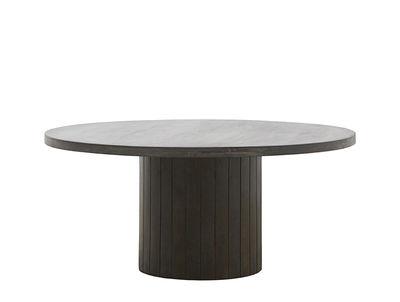 Table basse Pillar / Ø 100 cm - Bois - House Doctor bois foncé en bois