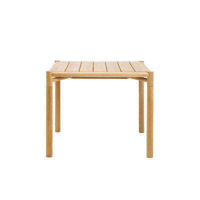 Jardin - Tables de jardin - Table carrée Kilt / 91 x 91 cm - Teck naturel - Ethimo - Teck naturel - Teck certifié FSC