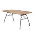 Table pliante Beam / 180 x 95 cm / Bambou & acier - Houe