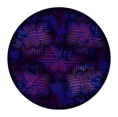 Tapis Umbrella Squid / Ø 250 cm - Moooi Carpets bleu,rouge en tissu