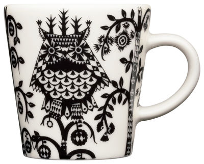 Arts de la table - Tasses et mugs - Tasse à espresso Taika / 10 cl - Iittala - Noir - Porcelaine