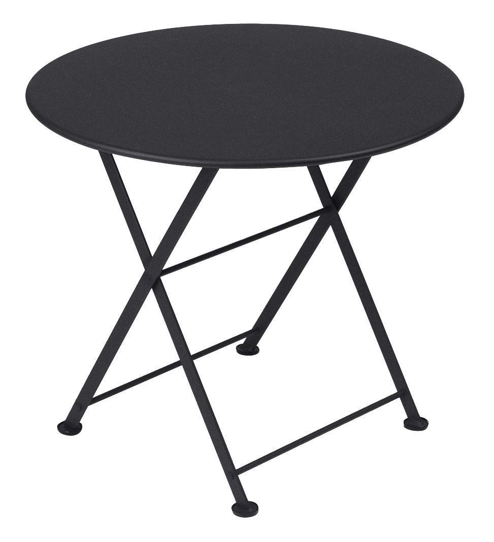 Arredamento - Tavolini  - Tavolino Tom Pouce - / Ø 55 cm di Fermob - Carbone - Acciaio laccato