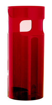 Decoration - Boxes & Baskets - Umbrella holder by Kartell - Transparent red - ABS