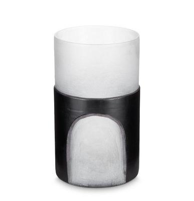 Interni - Vasi - Vaso Carved Medium - / Ø 10,2 x H 39 cm di Tom Dixon - Nero - Vetro soffiato a bocca