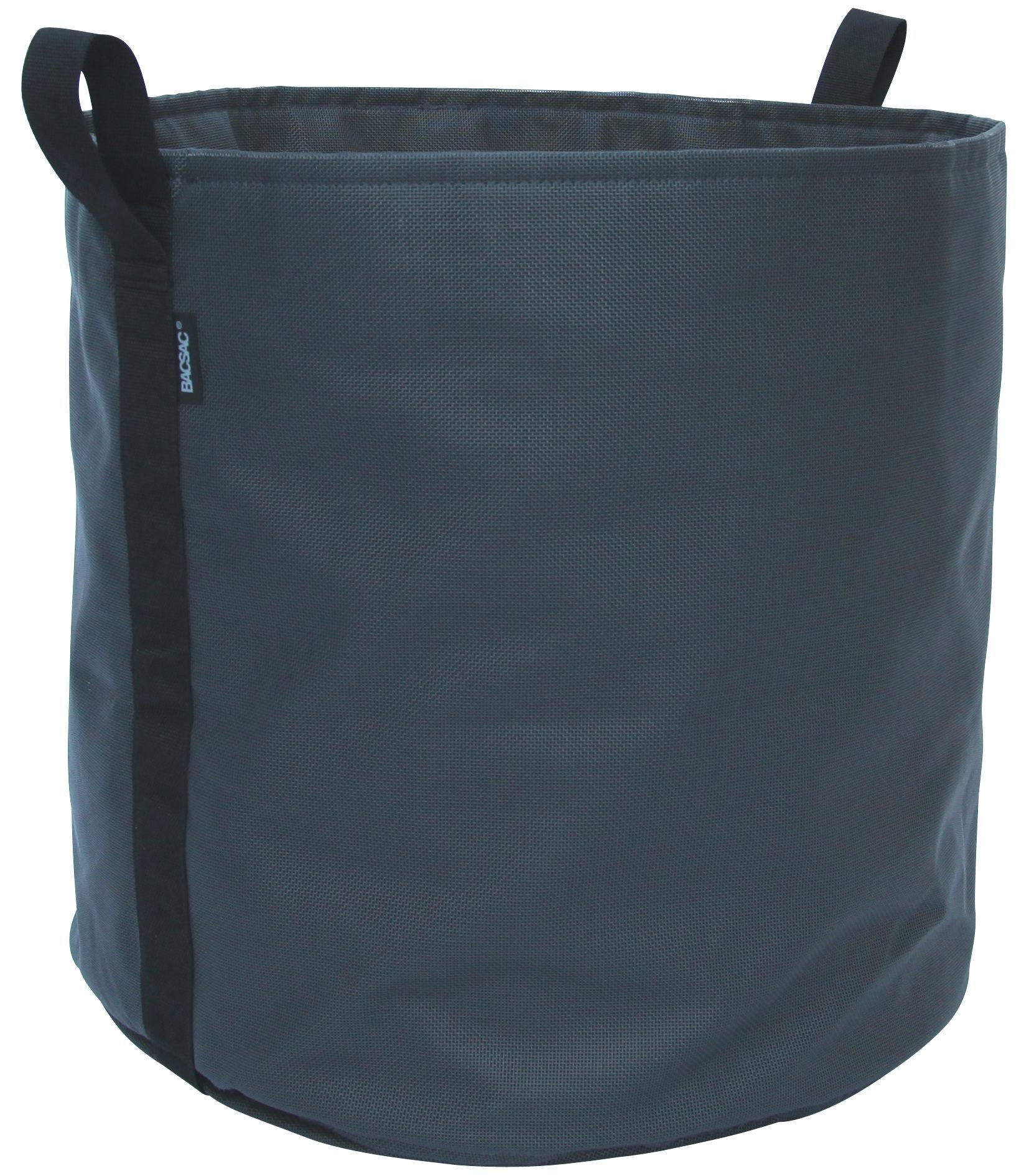 Outdoor - Vasi e Piante - Vaso per fiori Batyline® - / Outdoor - 100 L di Bacsac - Nero asfalto - Tela Batyline®
