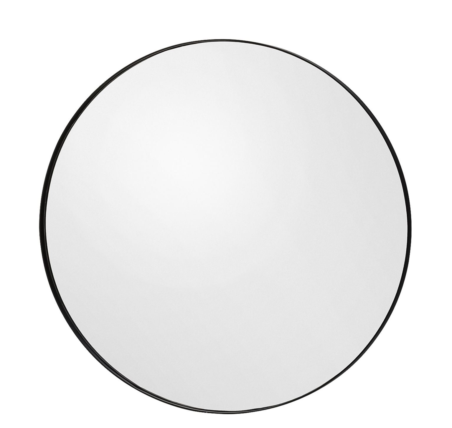 Decoration - Mirrors - Circum Small Wall mirror - Ø 70 cm by AYTM - Smoked grey - Glass, Painted MDF