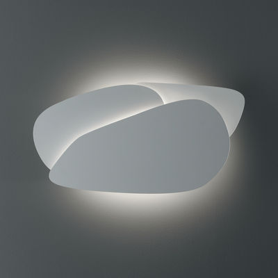 Applique Pedra LED / L 60 x H 32 cm - Carpyen blanc en métal