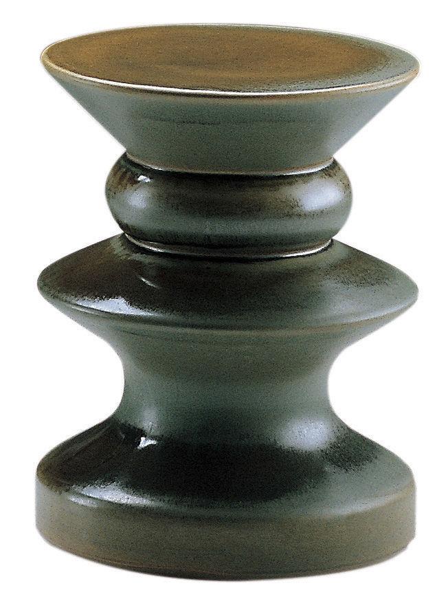 Möbel - Couchtische - Teti Beistelltisch / H 44 cm - Zanotta - Grün - gelb - emaillierter Sandstein