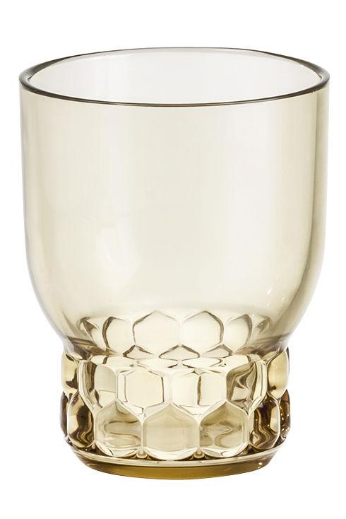 Tavola - Bicchieri  - Bicchiere Jellies Family - / Medium - H 11 cm di Kartell - Verde - PMMA