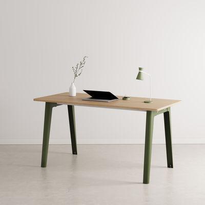 Bureau New Modern / 150 x 70 cm - Chêne éco-certifié - TIPTOE vert en métal/bois