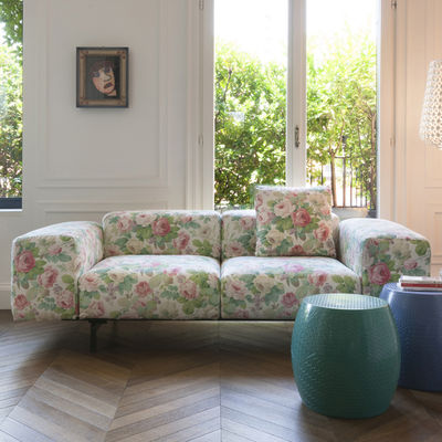 Canapé 2 places Largo / L 226 cm - Kartell rose,vert en tissu