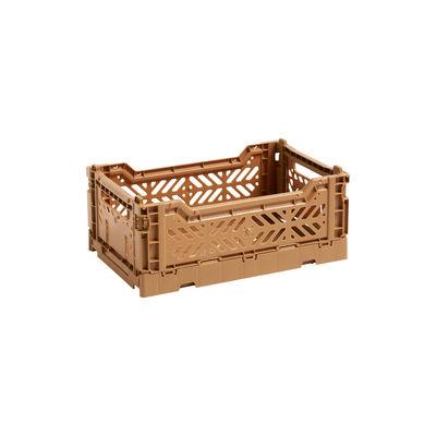 Image of Cestino Colour Crate - Small / 26 x 17 cm di Hay - Arancione - Materiale plastico