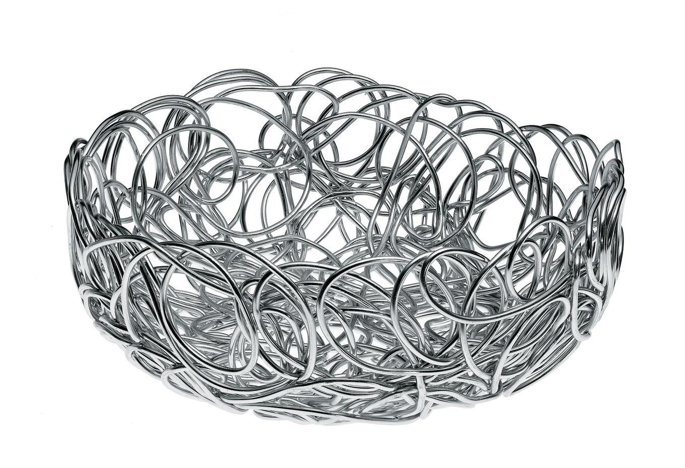 Tavola - Cesti, Fruttiere e Centrotavola - Cesto Nuvem di A di Alessi - Diam 24 cm - Alluminio anodizzato