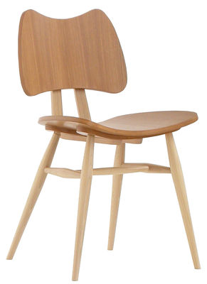 Furniture - Chairs - Butterfly Chair - Wood - Reissue 1958 by Ercol - Natural wood - Contreplaqué de orme, Natural beechwood
