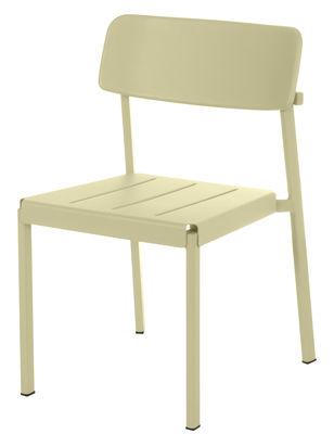 Chaise empilable Shine / Métal - Emu taupe en métal