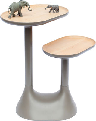 Furniture - Coffee Tables - Baobab Coffee table - 2 swivelling tops by Moustache - Grey - Lacquered beechwood, Limetree