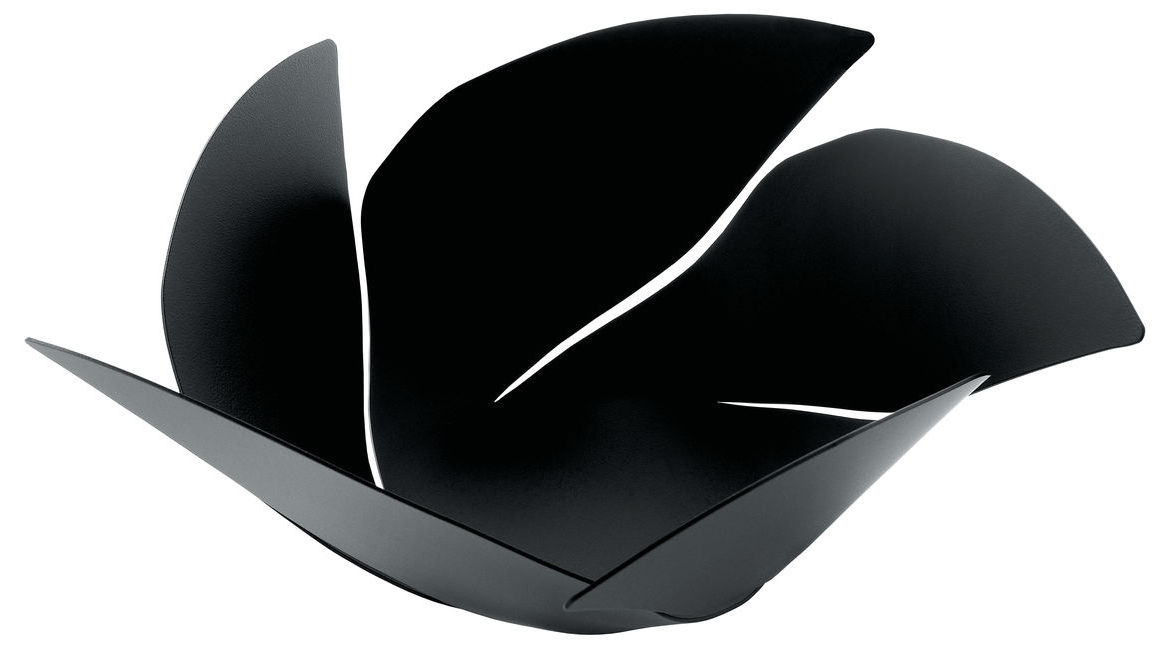 Arts de la table - Corbeilles, centres de table - Corbeille Twist Again / Ø 29 cm - Alessi - Noir - Acier inoxydable peint