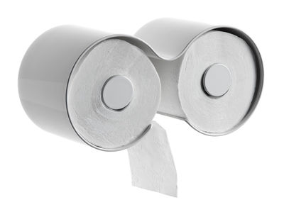 Déco - Salle de bains - Dérouleur de papier toilette Kali - Authentics - Blanc - Plastique
