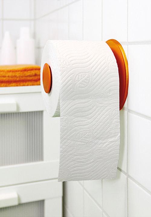 d rouleur de papier toilette plug n roll koziol transparent h 13 5 x 13 made in design. Black Bedroom Furniture Sets. Home Design Ideas