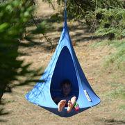 Fauteuil suspendu Bebo Tente Ø 120 cm Pour enfant Cacoon bleu ciel en tissu