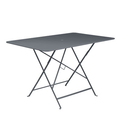 Outdoor - Garden Tables - Bistro Foldable table - / 117 x 77 cm - 6 people - Parasol hole by Fermob - Carbon - Painted steel