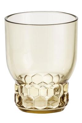 Tischkultur - Gläser - Jellies Family Glas / Größe M - H 13 cm - Kartell - Grün - PMMA