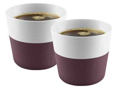 Gobelet Lungo / Set de 2 - 230 ml - Eva Solo bordeaux en céramique