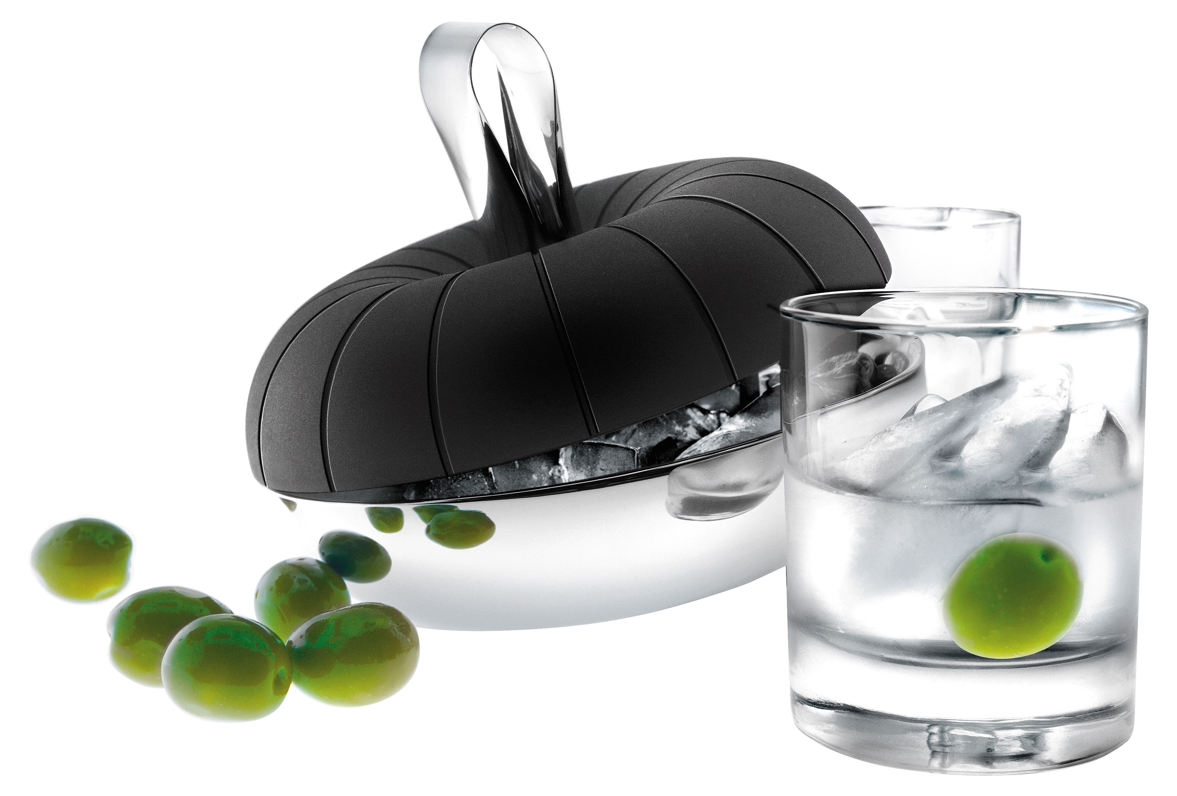 Tableware - Wine Accessories - Ice bucket by Eva Solo - Black - Steel - Silicone, Stainless steel