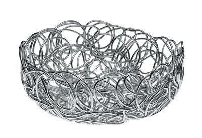 Tischkultur - Körbe, Fruchtkörbe und Tischgestecke - Nuvem Korb - A di Alessi - Ø 24 cm - eloxiertes Aluminium