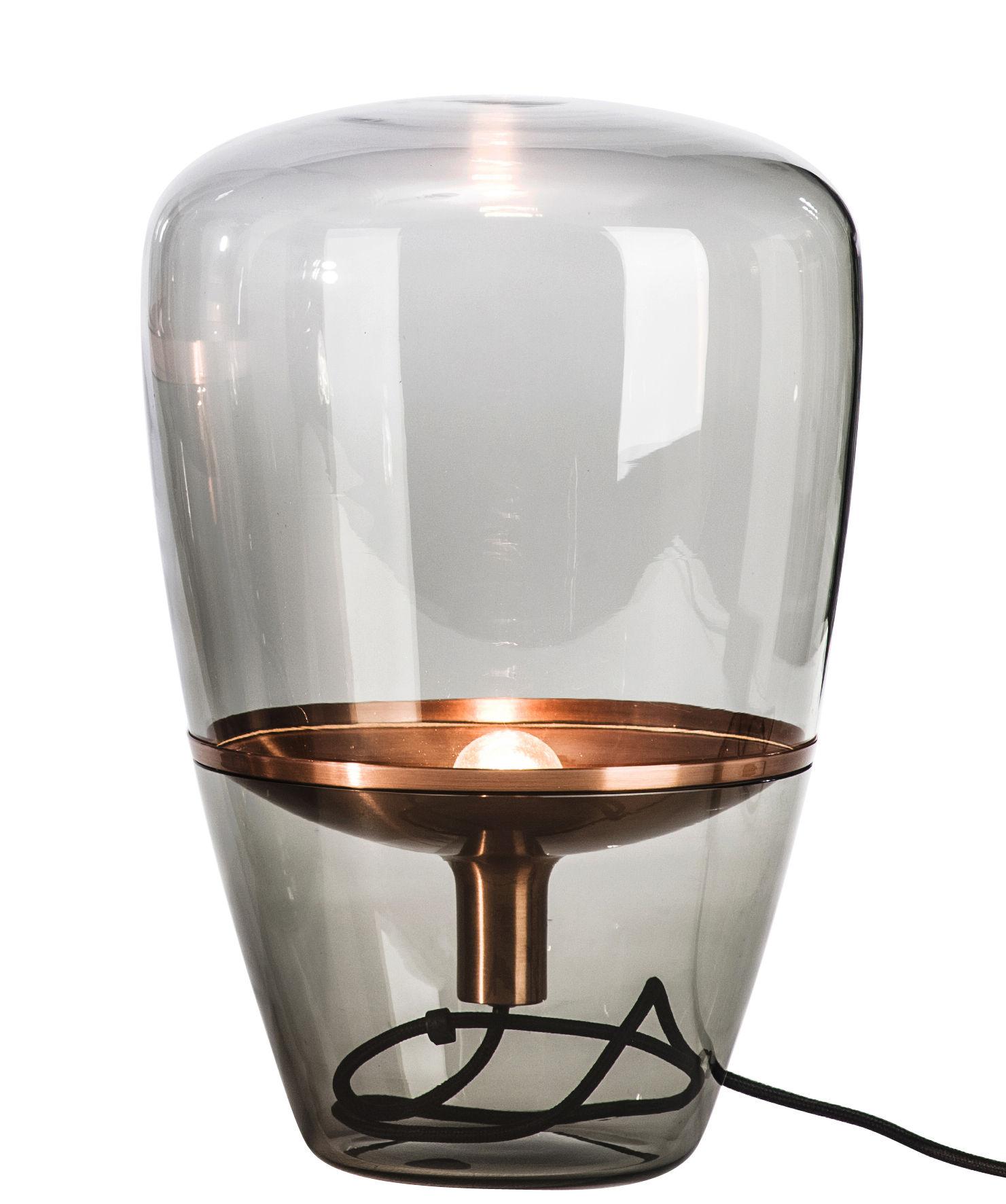 Illuminazione - Lampade da tavolo - Lampada da tavolo Balloon Small - / H 40 cm di Brokis - Vetro soffiato / Rame - Rame, Verre soufflé moulé