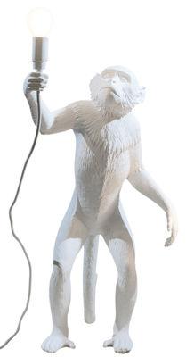 Illuminazione - Lampade da tavolo - Lampada da tavolo Monkey Standing - / H 54 cm di Seletti - Bianco - Resina