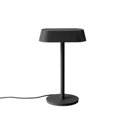 Lampe de table Linear LED / Port USB-C - Muuto noir en métal