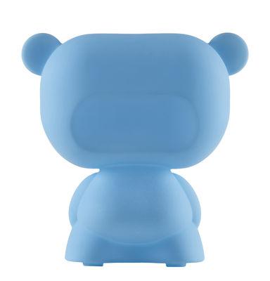 Lampe de table Pure / H 45 cm - Slide bleu en matière plastique