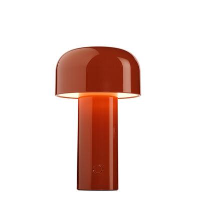 Luminaire - Lampes de table - Lampe sans fil Bellhop / Recharge USB - Plastique - Flos - Brique - Polycarbonate