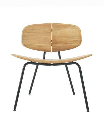 Agave Lounge Sessel - Ethimo - Schwarz,Teak, natur