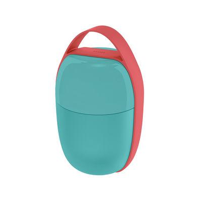 Cuisine - Boîtes, pots et bocaux - Lunch box Food à porter / Small - 2 compartiments - Alessi - Bleu clair - Résine thermoplastique, Silicone