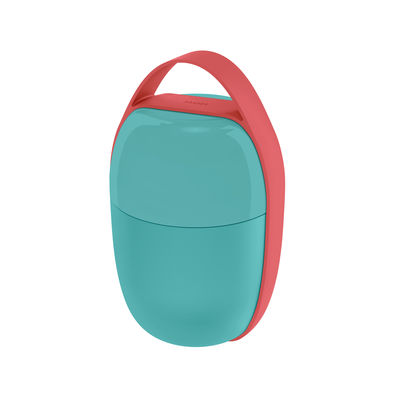 Kitchenware - Kitchen Storage Jars - Food à porter Lunch box - / Small -2 compartments by Alessi - Light blue - Silicone, Thermoplastic resin