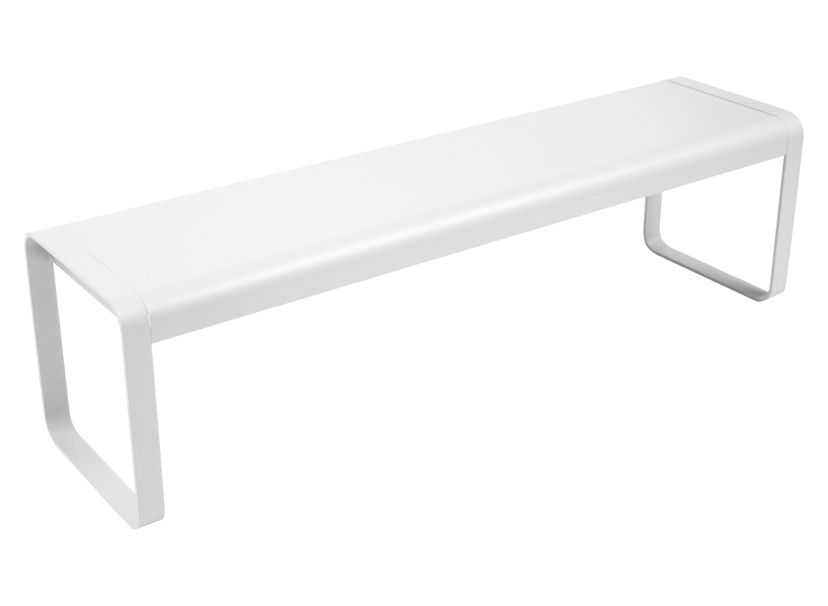 Arredamento - Panchine - Panchina Bellevie - L 161 cm - 4 posti di Fermob - Bianco - Acciaio, Alluminio