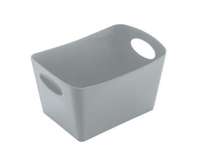 Déco - Paniers et petits rangements - Panier Boxxxx S / 1 L - Koziol - Gris froid opaque - Matière plastique