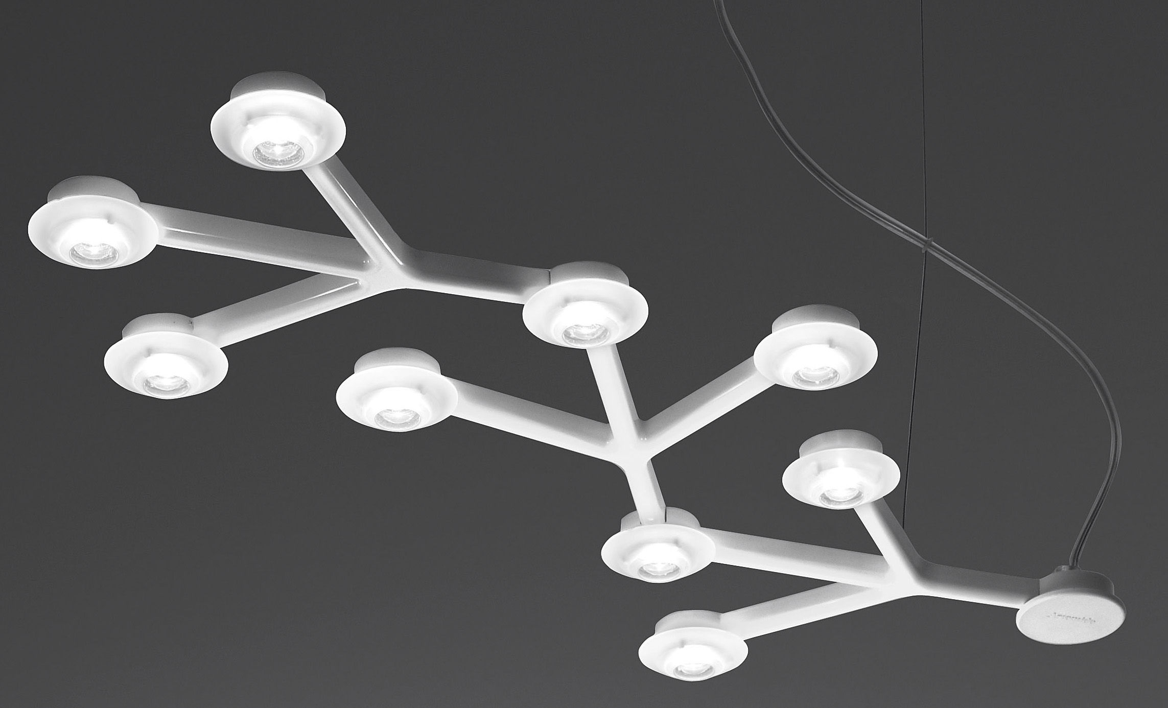 Lighting - Pendant Lighting - LED NET Pendant - Line - L 66 cm by Artemide - White - Methacrylate, Painted aluminium