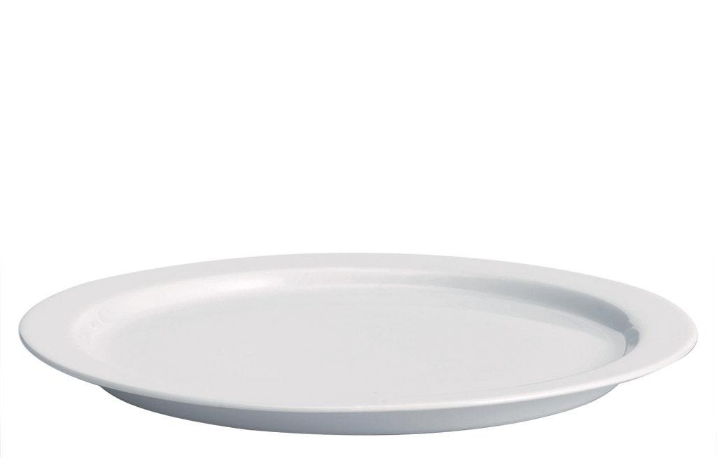 Arts de la table - Assiettes - Plat Anatolia Ø 32 cm - Driade Kosmo - Blanc - Porcelaine