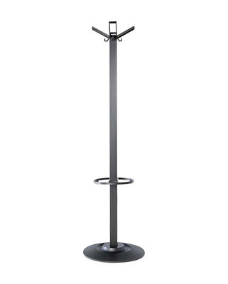 Möbel - Garderoben und Kleiderhaken - Segmenti Kleiderständer mit Fuß - Kartell - Schwarz - Glasfaser, Nylon