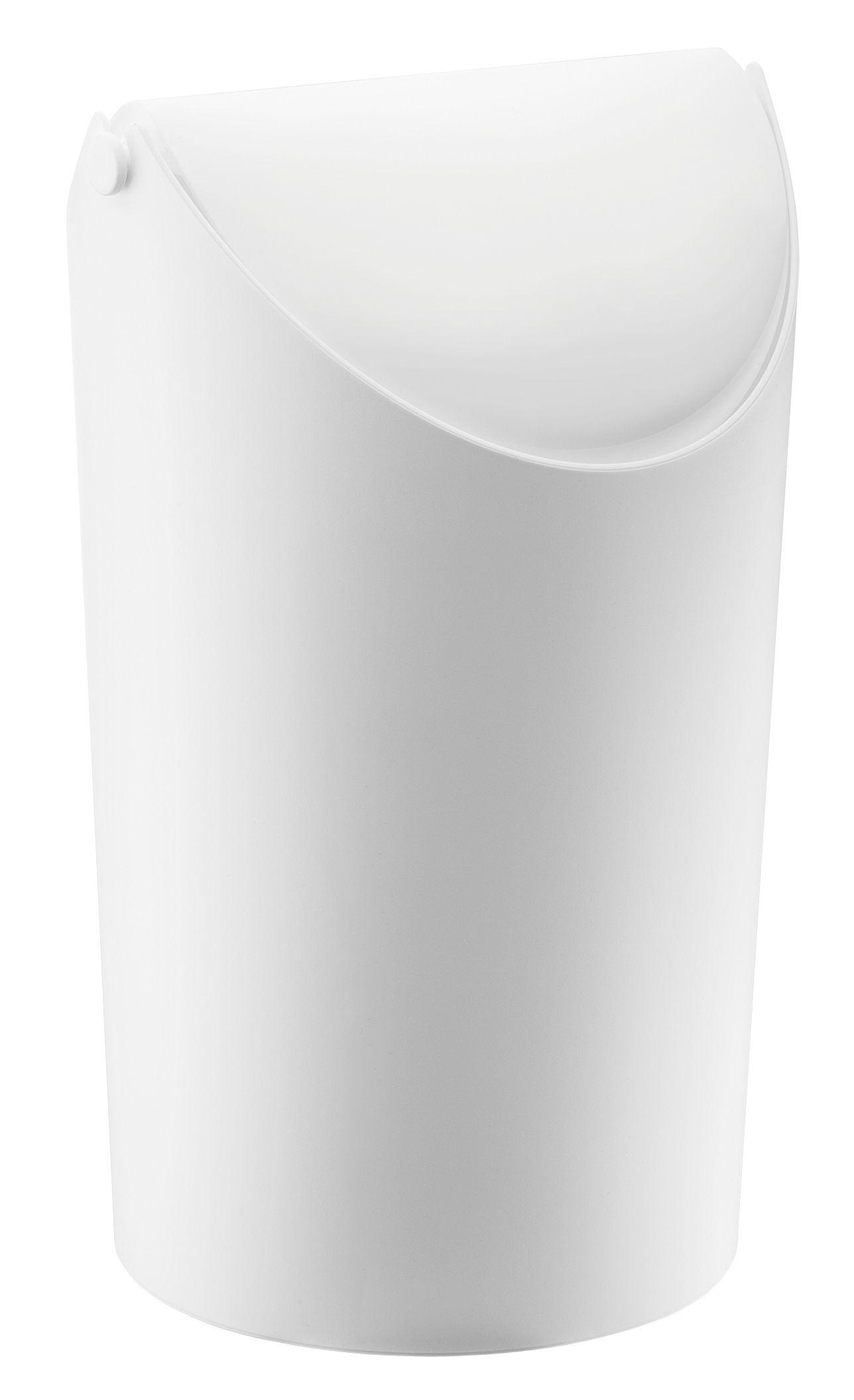 Accessoires - Accessoires salle de bains - Poubelle Jim / H 31,5 cm - 9 Litres - Koziol - Blanc opaque - Plastique