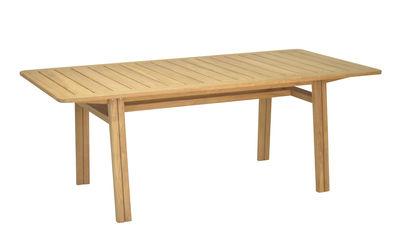 Outdoor - Garden Tables - Lodge Rectangular table - / Teak by Vlaemynck - Teak - Unoiled teak