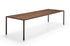 Tense Material Rectangular table - / 90 x 220 cm - Walnut by MDF Italia